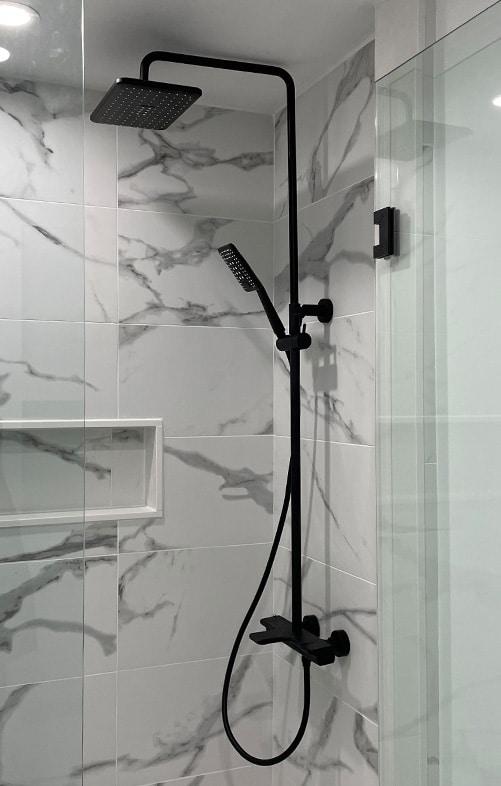Bathroom Renovation, marble tiles Toronto