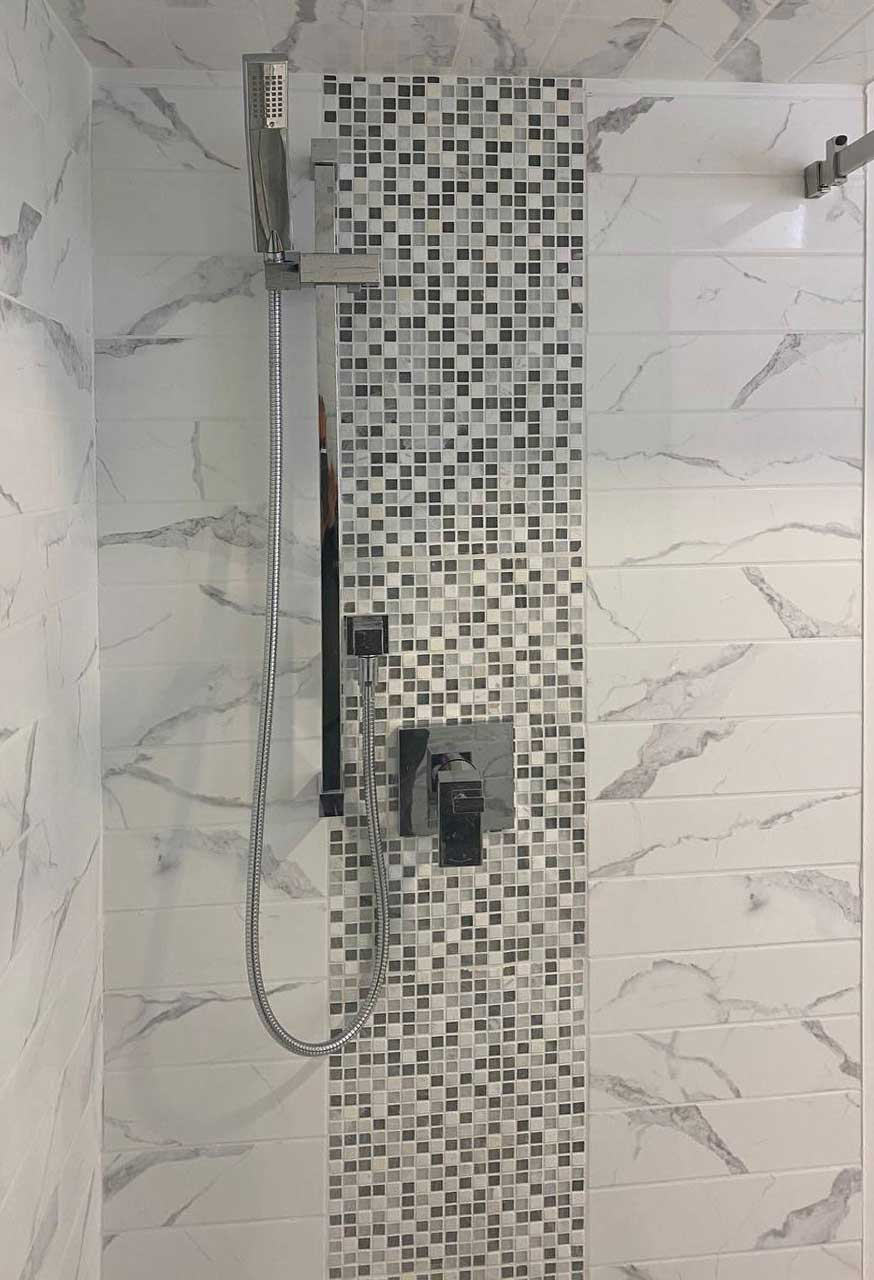 bathroom renovation project Toronto , Marble tiles